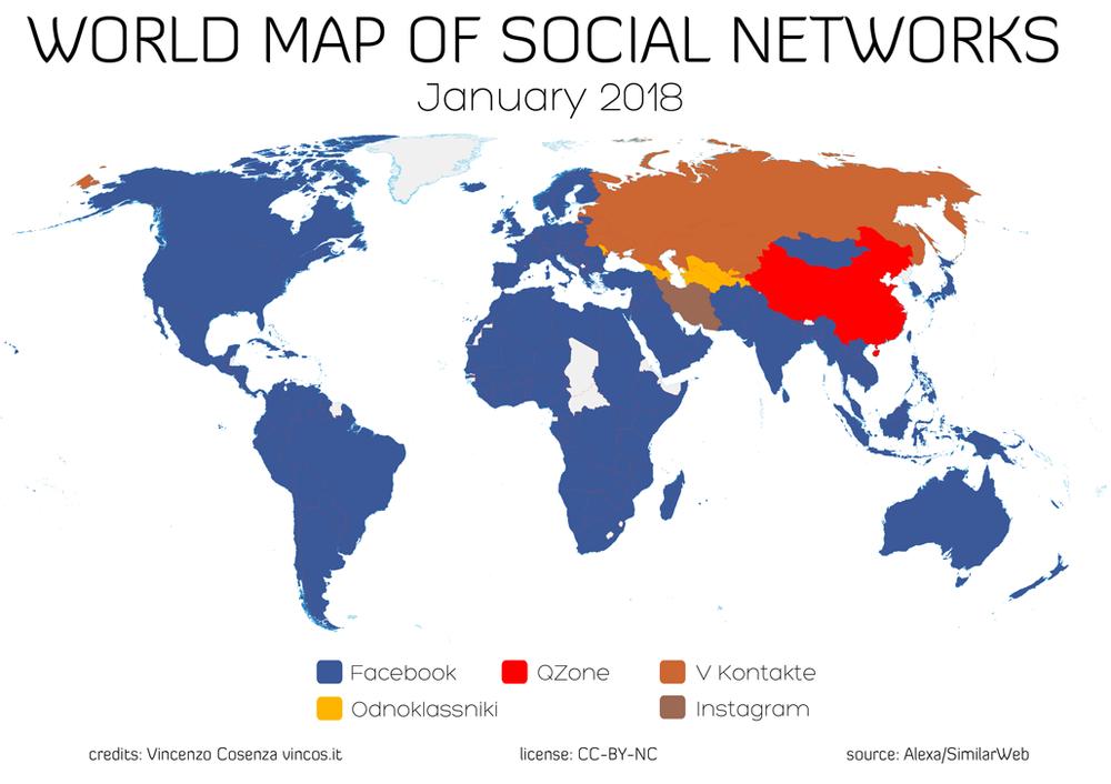 карта соцсетей