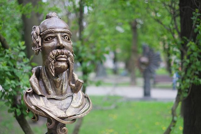 парк кованных фигур Донецк