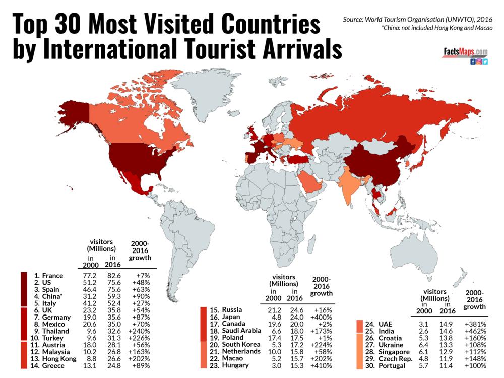 карта туристичної привабливості