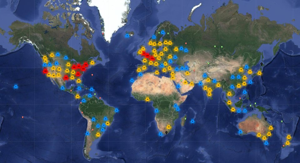 всі сервери у світі