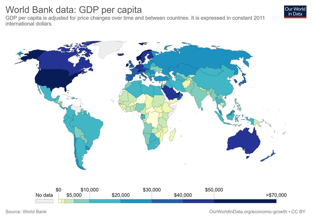 ВВП на одну особу