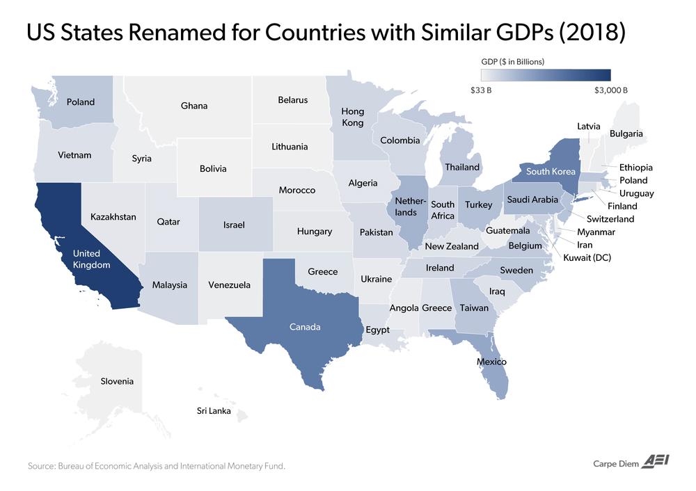 ВВП штатів