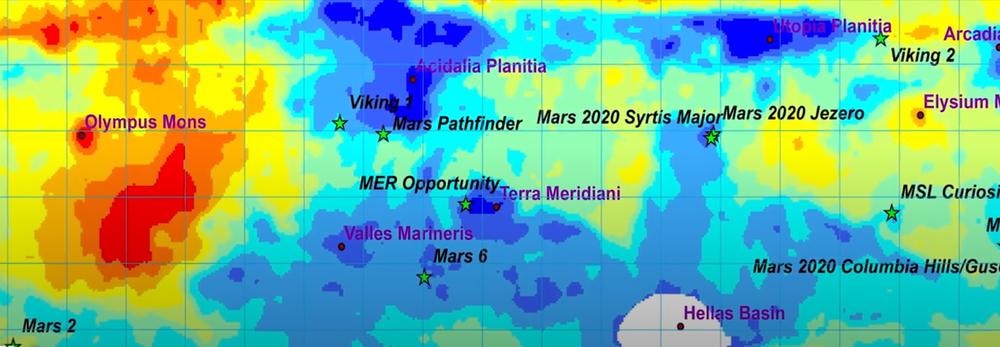 карта марсу