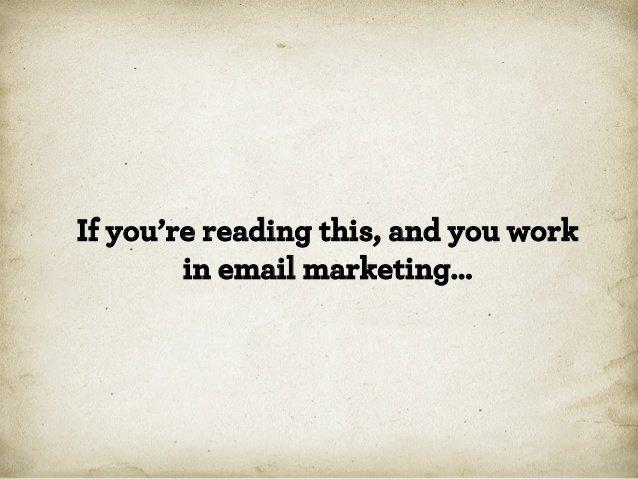 если вы работаете в емеил маркетинге