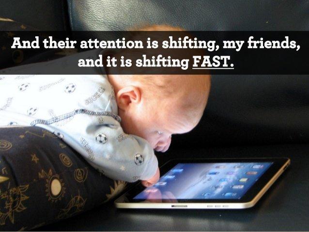 внимание легко переключается