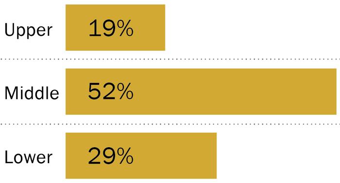 доля среднего класа в США