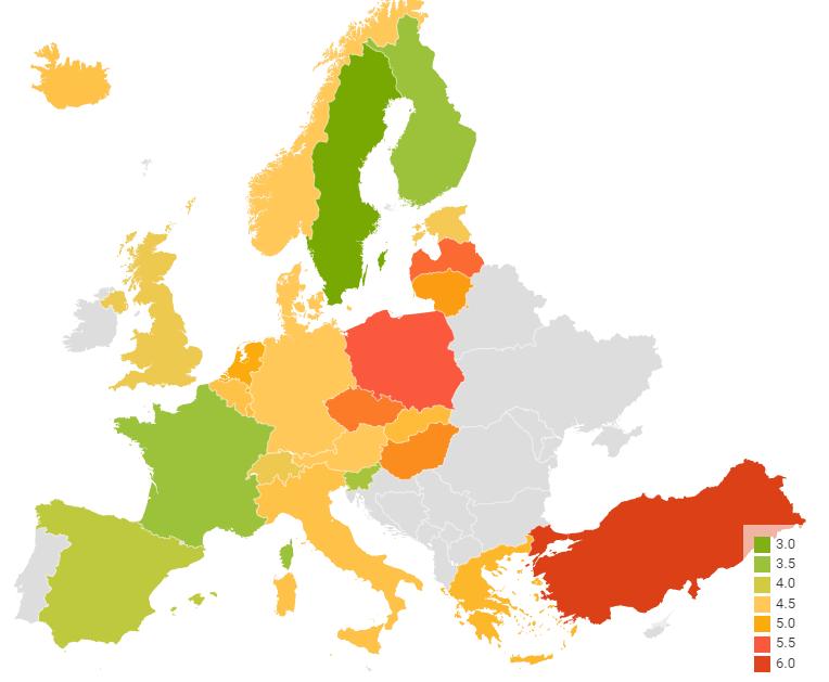самые загрязненные страны Европы