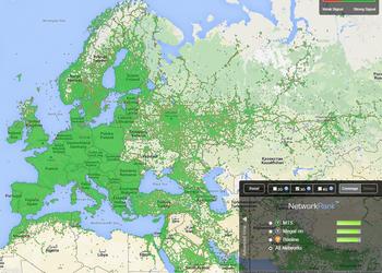 Карта 3G в Европе, на которой легко найти Украину