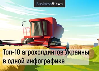 Топ-10 агрохолдингов Украины в одной инфографике