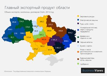От угля до электродвигателей: что экспортирует каждая украинская область