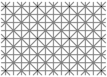 Как увидеть все черные точки на мегапопулярной оптической иллюзии последних дней? Эта и ещё 19 крутых иллюзий