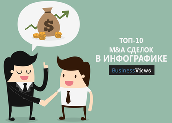 Инфографика: ТОП-10 сделок покупки/продажи бизнеса в 2016 году
