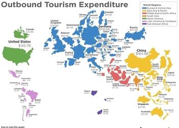 Сколько денег тратят туристы из разных стран и сколько приносит туризм Украине