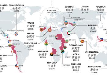 Карта дня: китайські міста, економіка яких дорівнює економіці цілих країн