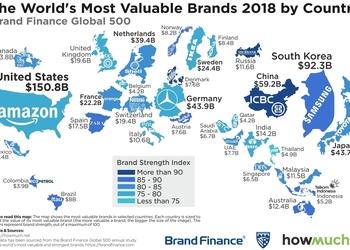 Карта дня: який бренд є найсильнішим у світі