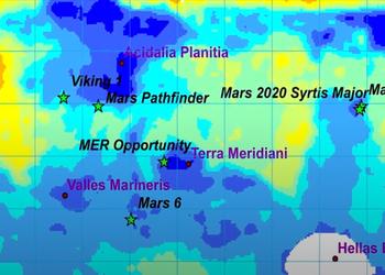 Карта: де і як на Марсі українці будуть вирощувати пшеницю та картоплю