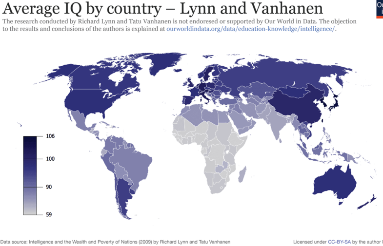 Карта дня: в яких країнах найбільший рівень IQ та від чого він залежить