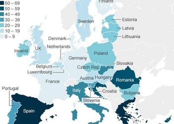 Карта дня: коррупция в Европе