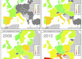 Карта дня: безработица в Европе и Украине
