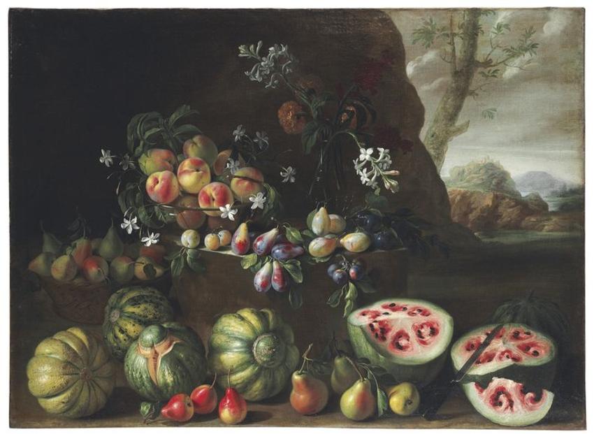 Старинная картина с арбузами показывает, как человек меняет природу под себя