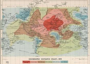 Карта, которая показывает, как долго длились путешествия 100 лет назад
