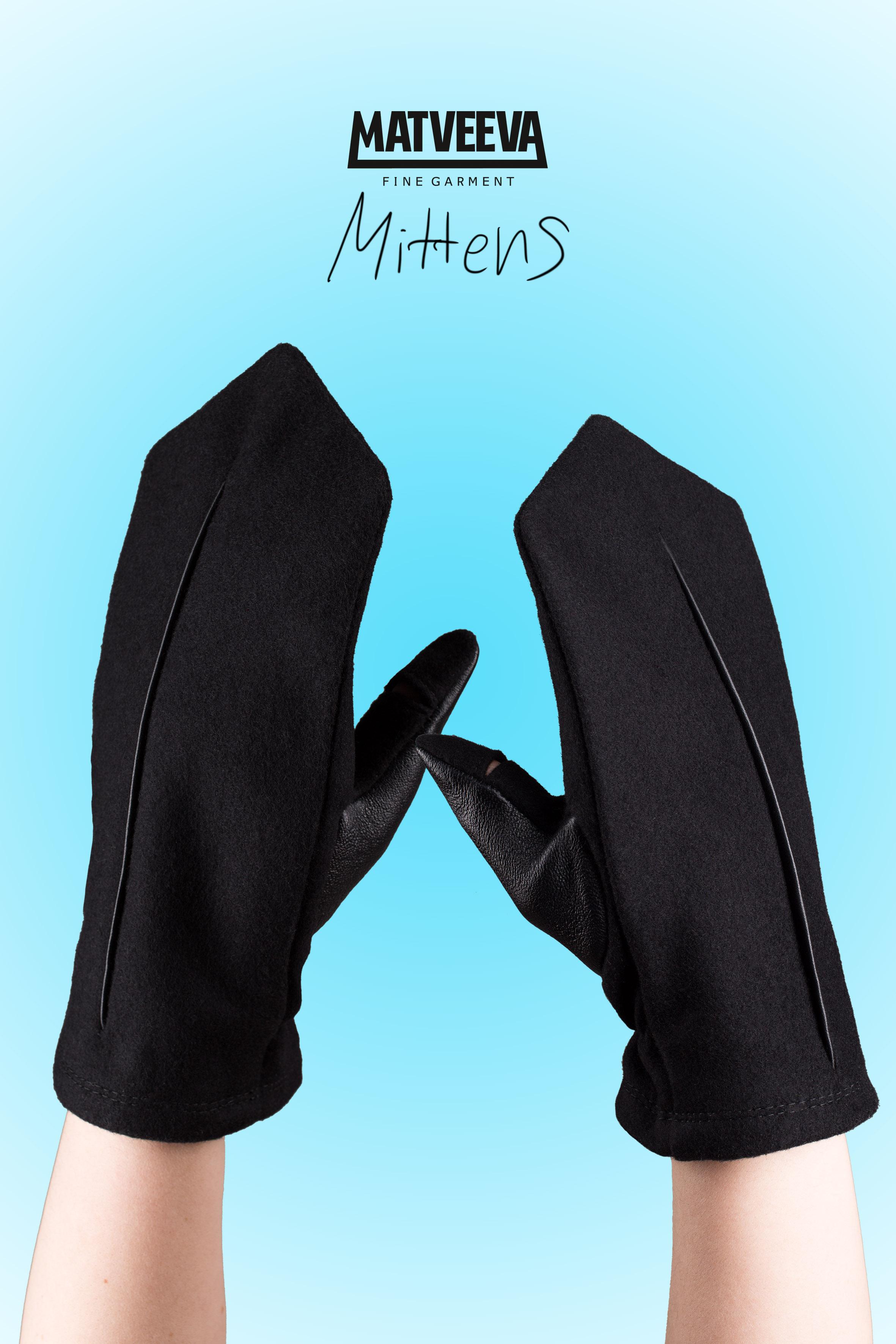 Matveeva Black Coat варежки