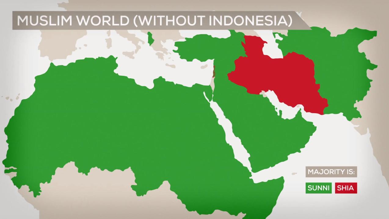 Картинки по запросу сунниты и шииты на карте мира